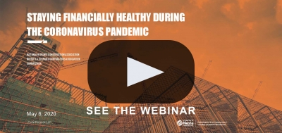 Staying Financially Healthy during the Coronavirus Pandemic